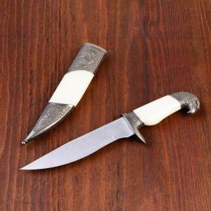 Сувенирный нож, рукоять белая с головой орла, 28см 732748