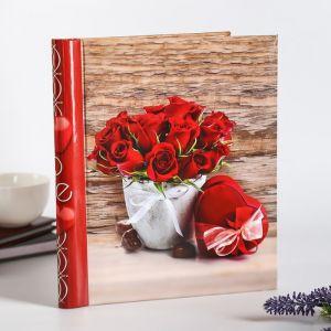 """Фотоальбом  магнитный на 10 листов """"Красные розы"""" 23X28см 4862534"""