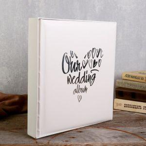 """Фотоальбом  """"Our wedding album"""" 29х32 см. 30 листов   4730034"""