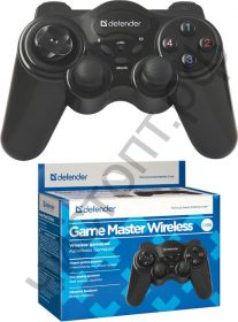 Геймпад DEFENDER Game Master Wireless беспроводной USB, радио, 12 кнопок, 2 стика