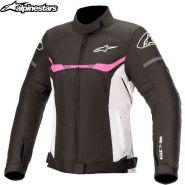 Куртка женская Alpinestars Stella T-SPS WP, Черно-бело-розовая