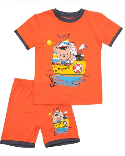 "Костюм для мальчика Bonito kids ""Captain"" оранжевый"