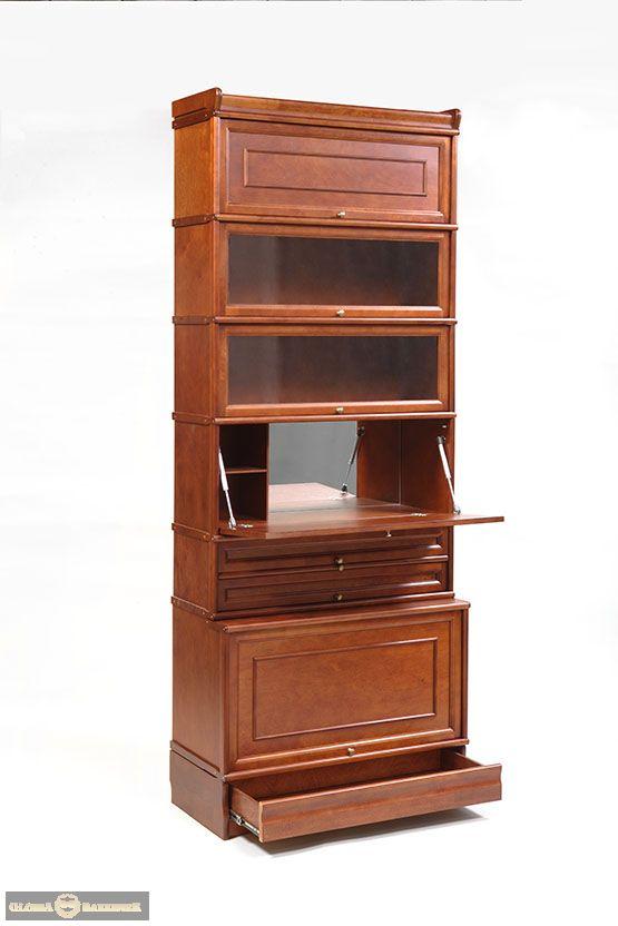 Стойка К173 модульно-секционного книжного шкафа серии Кенигсберг-Люкс с мини-баром