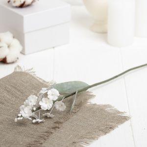 """Искусственный цветок """"Лаванда"""" белая 34 см 3257342"""