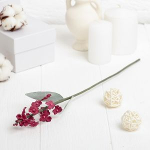 """Искусственный цветок """"Лаванда"""" красная 34 см 3257339"""