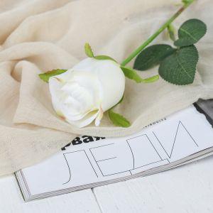 """Цветы искусственные """"Роза Аква"""" 5*40 см, белый   3794237"""