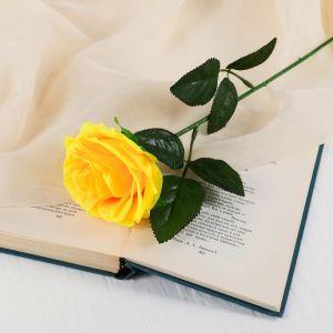 """Цветы искусственные """"Роза Глория"""" 9*60 см, жёлтая 2566042"""