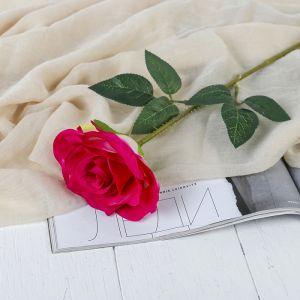 """Цветы искусственные """"Роза Гран При"""" 7*46 см, малиновый   3794240"""