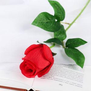 """Цветы искусственные """"Роза Натурэль"""" 6*44 см, красный   4642667"""