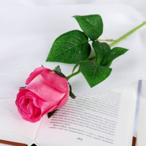 """Цветы искусственные """"Роза Натурэль"""" 6*44 см, розовый   4642670"""