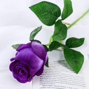 """Цветы искусственные """"Роза Натурэль"""" 6*44 см, фиолетовый   4642669"""