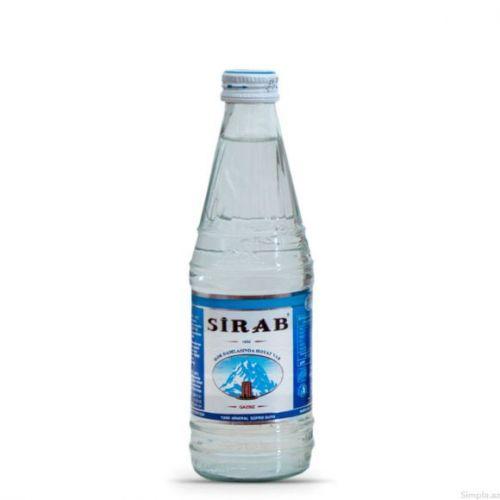 Sirab qazsız su 0.5 şüşə