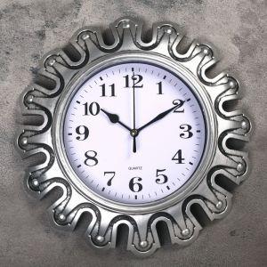 """Часы настенные, серия: Интерьер, """"Футуристика"""", серебряные, d=30 см 3620727"""