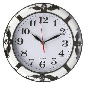 """Часы настенные, серия: Классика, """"Горгульи"""", круглые, хром, d=30 см 2998058"""