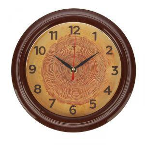 """Часы настенные """"Срез дерева"""", """"Рубин"""", 21х21 см 2566683"""