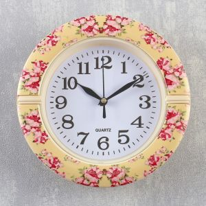 """Часы настенные, серия: Классика, """"Розочка"""", d=19 см   4156404"""