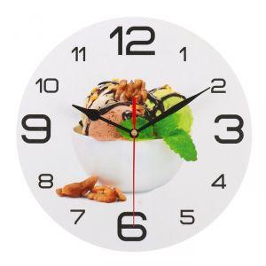 """Часы настенные круглые """"Мороженое с мятой"""", 24 см микс 3571458"""