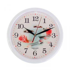 """Часы настенные, серия: Кухня, """"Две чашки кофе"""", белый обод, 24х24 см 1229869"""
