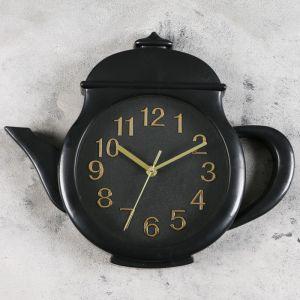 """Часы настенные, серия: Кухня, """"Заварник"""" 31х38х4 см, дискретный ход  3620897"""