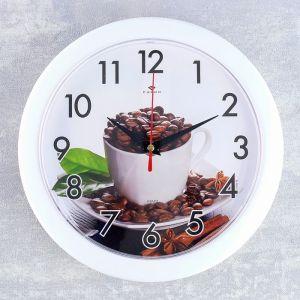 """Часы настенные, серия: Кухня, """"Зерна кофе"""", 25 см 4344384"""