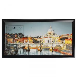 """Часы-картина настенные, серия: Город, """"Ватикан"""", 50х100  см, микс 1210525"""