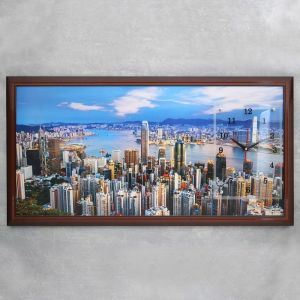 """Часы-картина настенные, серия: Город, """"город и архитектура"""", 50х100  см, микс 1541492"""