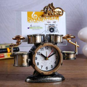 """Часы будильник """"Барабаны"""" с фоторамкой 20х6х21 см 1197078"""