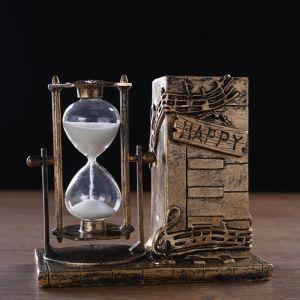 """Часы песочные """"Ноты"""" с карандашницей, 14.5х8х13 см   4727120"""