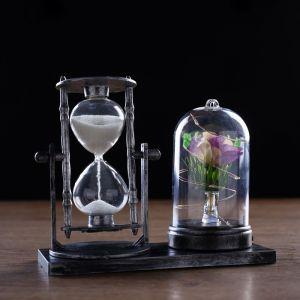 """Часы песочные """"Роза"""", 15х9х14 см микс  4154490"""