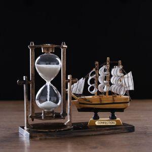 "Часы песочные ""Фрегат"", 15.5х6.5х12.5 см, микс 4154484"