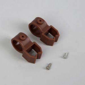 Держатели шины, 4 ? 2,4 ? 2 см, d = 1,6 см, 2 шт, цвет коричневый