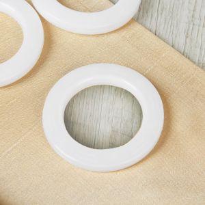 Люверсы для штор, d = 4/6,5 см, 10 шт, цвет белый