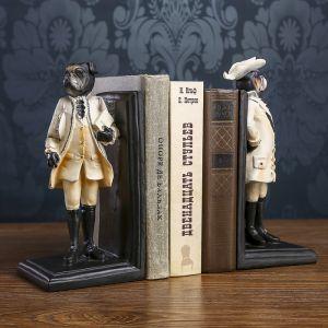 "Держатели для книг ""Бульдог-коммивояжёр"" набор 2 шт 25х11,3х10 см   3745186"