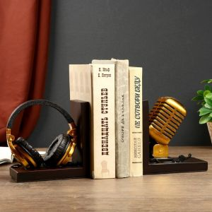 """Держатели для книг """"Наушники и микрофон"""" набор 2 штуки 14,5х28х8 см   4443085"""