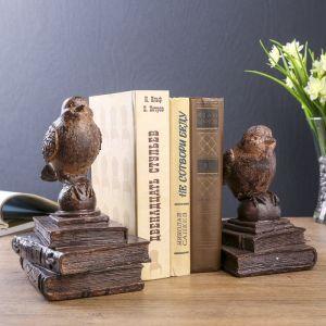 """Держатели для книг """"Птички на старых книгах"""" набор 2 шт 21х15,3х13 см   3744959"""