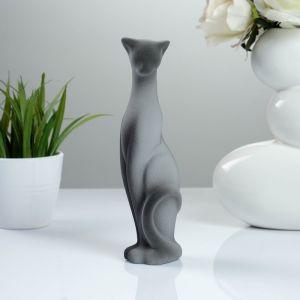 """Фигура """"Кошка Багира"""" наклоненная подпал серая/черный подпал 4 ? 5 ? 20 см 008 772077"""