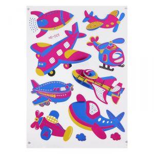 """Наклейка из цветной фольги """"Воздушный транспорт"""" 20 х 28 см   4349837"""