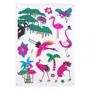 """Наклейка из цветной фольги """"Птицы"""" 20 х 28 см   4349833"""