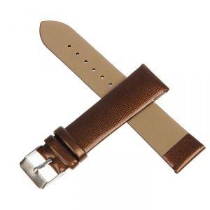 Ремешок для часов, 20мм, лакированная экокожа, коричневый, 19см 1745187