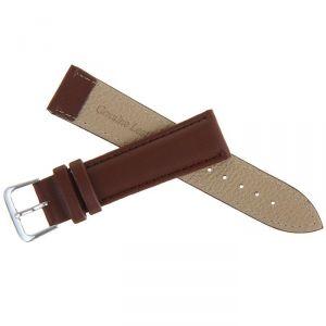 Ремешок для часов, 20мм, экокожа, коричневый, 20см 1268471