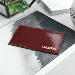 Футляр для карточки, цвет бордовый