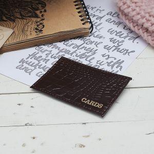Футляр для карточки, цвет коричневый