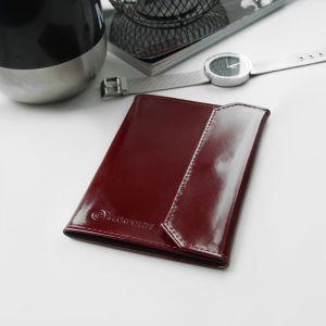 Обложка для документов, шик, цвет бордовый