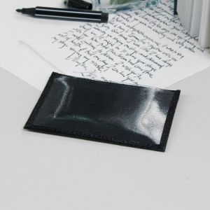 Обложка для автодокументов, 2 кармана для карт, цвет чёрный