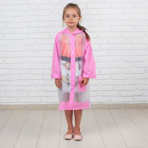 Дождевик детский «Гуляем под дождём», розовый, M