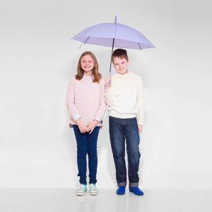 Зонт детский полуавтоматический «Однотонный», r=41см, цвет сиреневый