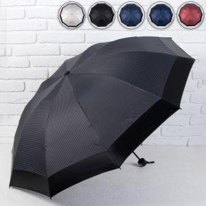 Зонт механический «», 4 сложения, 10 спиц, R = 54 см, цвет МИКС