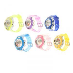 """Часы наручные детские """"Фиалка"""", электронные, с силиконовым ремешком, микс 20х3.5х1 см 1197094"""