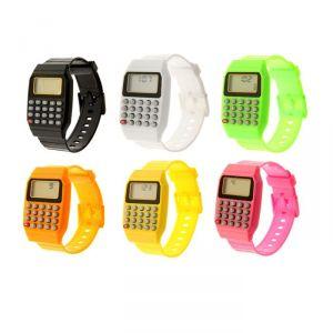 Часы наручные детские, электронные, с силиконовым ремешком, с калькулятором, микс, l=21 см 839097