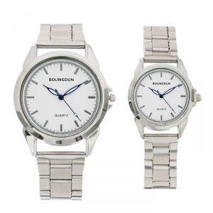 """Часы наручные, """"Калеон"""", парный набор для нее и для него, хром   4407067"""